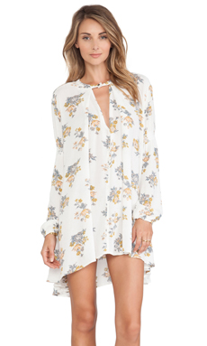 Free People Tree Swing Top in Gardenia Combo