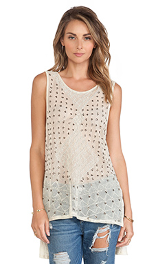 Free People Anjani Embellished Top in Tea