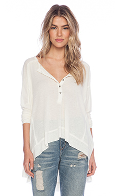 Free People Benedict Canyon Henley in Cream
