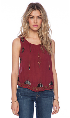 Free People Bad Girls Do It Well Tank in Scarlet