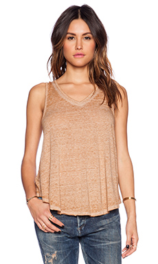 Free People Breezy Tank in Camel