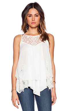 Free People Wear It For Love Tank in Ivory