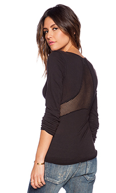 Free People Cozy Jersey Jane Tee in Black