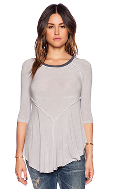 Free People Weekends Layering Top in Dove Combo