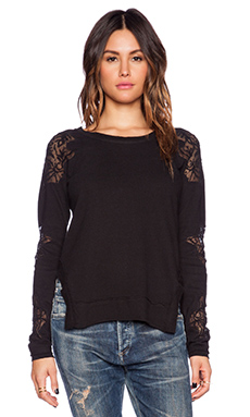 Free People Outer Sunset Top in Black