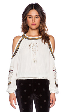 Free People Give Him The Cold Shoulder Top in Ivory