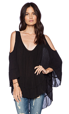 Free People Chloe Tee in Black