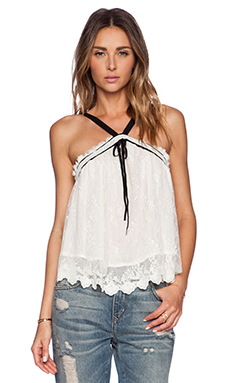 Free People Hearts Content Tank in Cream