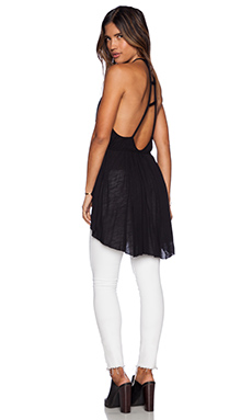 Free People Double Dutch Solid Tunic in Black