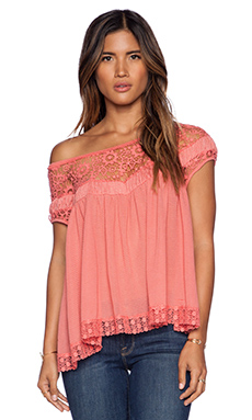 Free People Heart Throb Babydoll in Watermelon