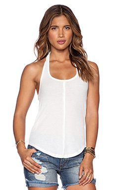 Free People Waffle Halter Tank in Vory