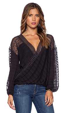 Free People Valley City Top in Black