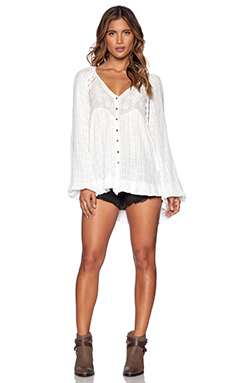 Free People White Lie Top in Ivory