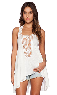 Free People New World Horizons Tank in Ivory
