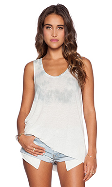 Free People Cruz Washed Cape Tank in Ivory Combo