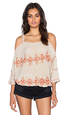 Free People South By Southwest Top in Dune