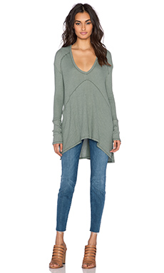 Free People Sunset Park Top in Safari Green