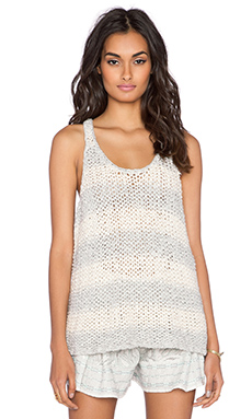 Free People Stars That Shine Tank in Grey & Ivory Combo