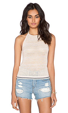 Free People Tipping Halter Tank in Pale Pink Combo