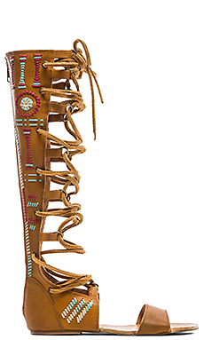 Free People Bellflower Tall Sandal in Tan Combo