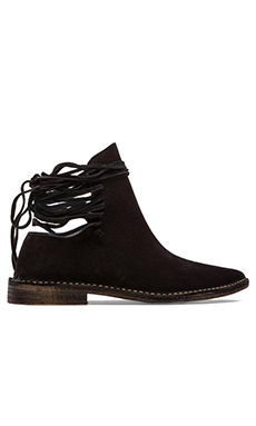 Free People Ajax Laceback Shoeboot in Black