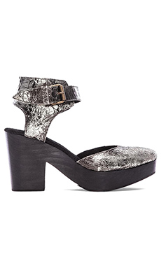 Free People Percy Clog in Silver