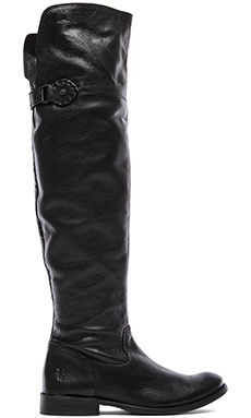 Frye Shirley Over The Knee Flat Boot in Black