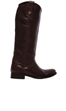 Frye Melissa Button Boot en Marron Foncé