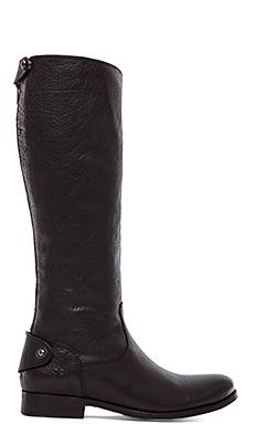 Frye Melissa Button Back Zip Boot in Black