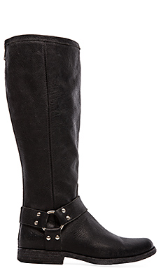 Frye Phillip Harness Tall in Black
