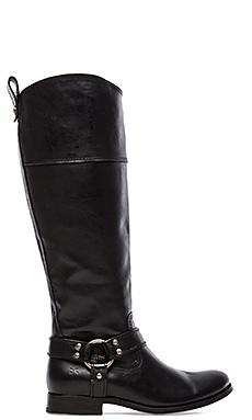 Frye Melissa Harness Inside Zip Boot in Black