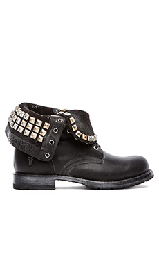 Frye Rogan Studded Lace Boot in Black