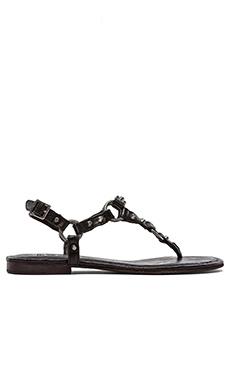 Frye Carson Ring Thong Sandal in Black