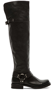 Frye Veronica Harness OTK Boot in Black