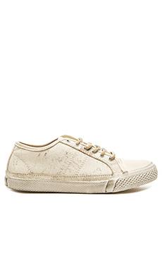 Frye Greene Low Lace Sneaker in Off White
