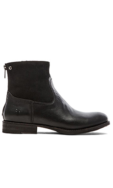 Frye Jamie Zip Bootie in Black