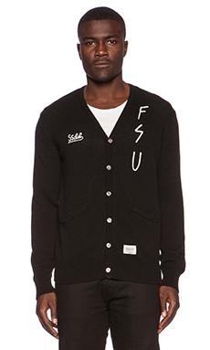 Fuct SSDD DFFL 13 Cardigan in Black