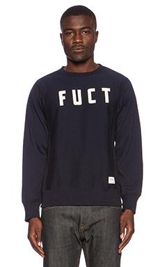 Fuct SSDD Campus Crewneck Sweatshirt in Navy