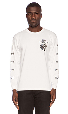 Fuct SSDD RXCX No Mercy Long Sleeve Tee in White