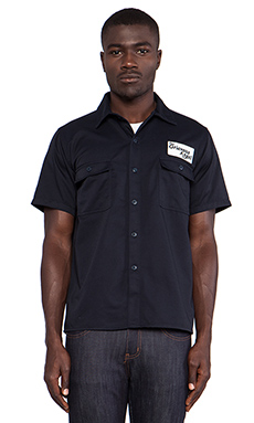 Fuct SSDD Grievous Angel Button Down in Navy
