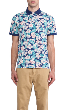 Gant Floral Polo in Multi