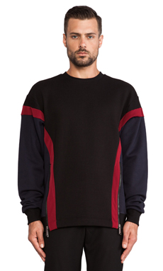 General Idea Colorblock T-Shirt in Black/ Wine