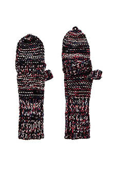 Genie by Eugenia Kim Stef Gloves in Black & Red Multi