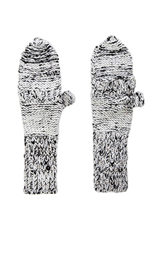Genie by Eugenia Kim Stef Gloves in White & Black Multi