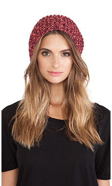 Genie by Eugenia Kim Riley Beanie in Burgundy & Neon Pink