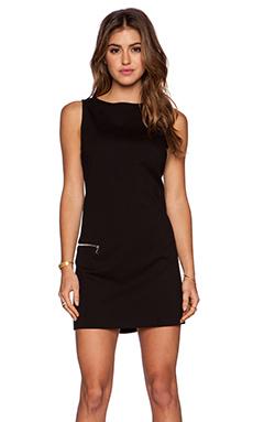 GETTINGBACKTOSQUAREONE Sleeveless Mini Dress in Black