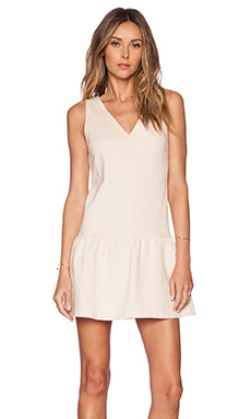 GETTINGBACKTOSQUAREONE Drop Waist Dress in Nude