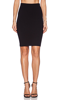 GETTINGBACKTOSQUAREONE Pencil Skirt in Black