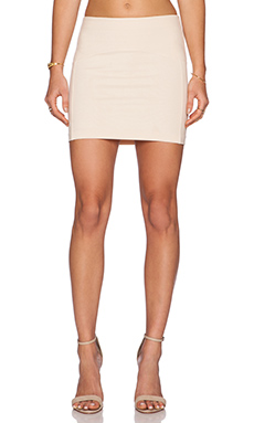 GETTINGBACKTOSQUAREONE Mini Skirt in Nude