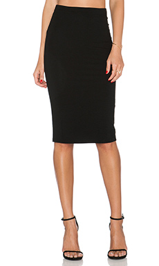 GETTINGBACKTOSQUAREONE Pencil Skirt in Black